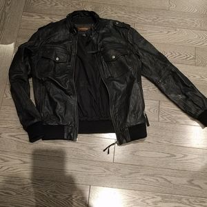 Black genuine leather jacket by Danier